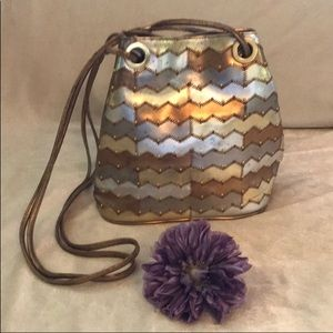 Vintage Bag Metallic Shoulder